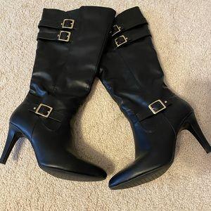 Black knee high boots Sz 9
